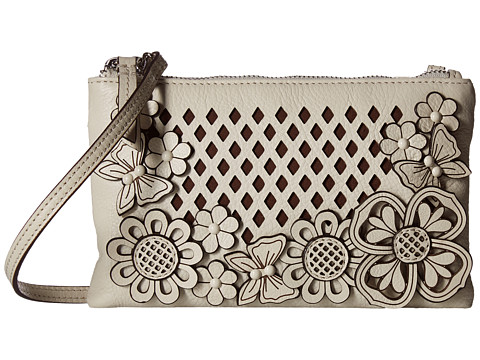 Brighton Tivoli Trellis Mini Crossbody - White