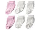 Jefferies Socks Jefferies Socks Non-Skid Scalloped Turncuff 6-Pack (Infant/Toddler)