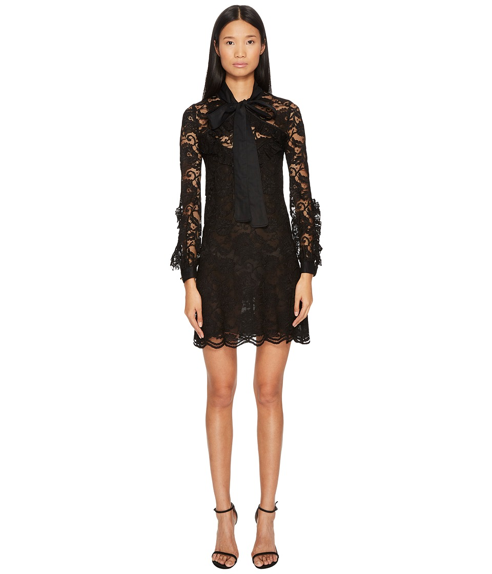 Francesco Scognamiglio - Bow Front Lace Long Sleeve Dress