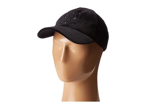 The Kooples Velvet Baseball Cap - Black