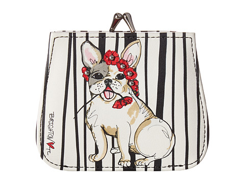 Brighton Poppy Pup French Kiss Wallet - Multi