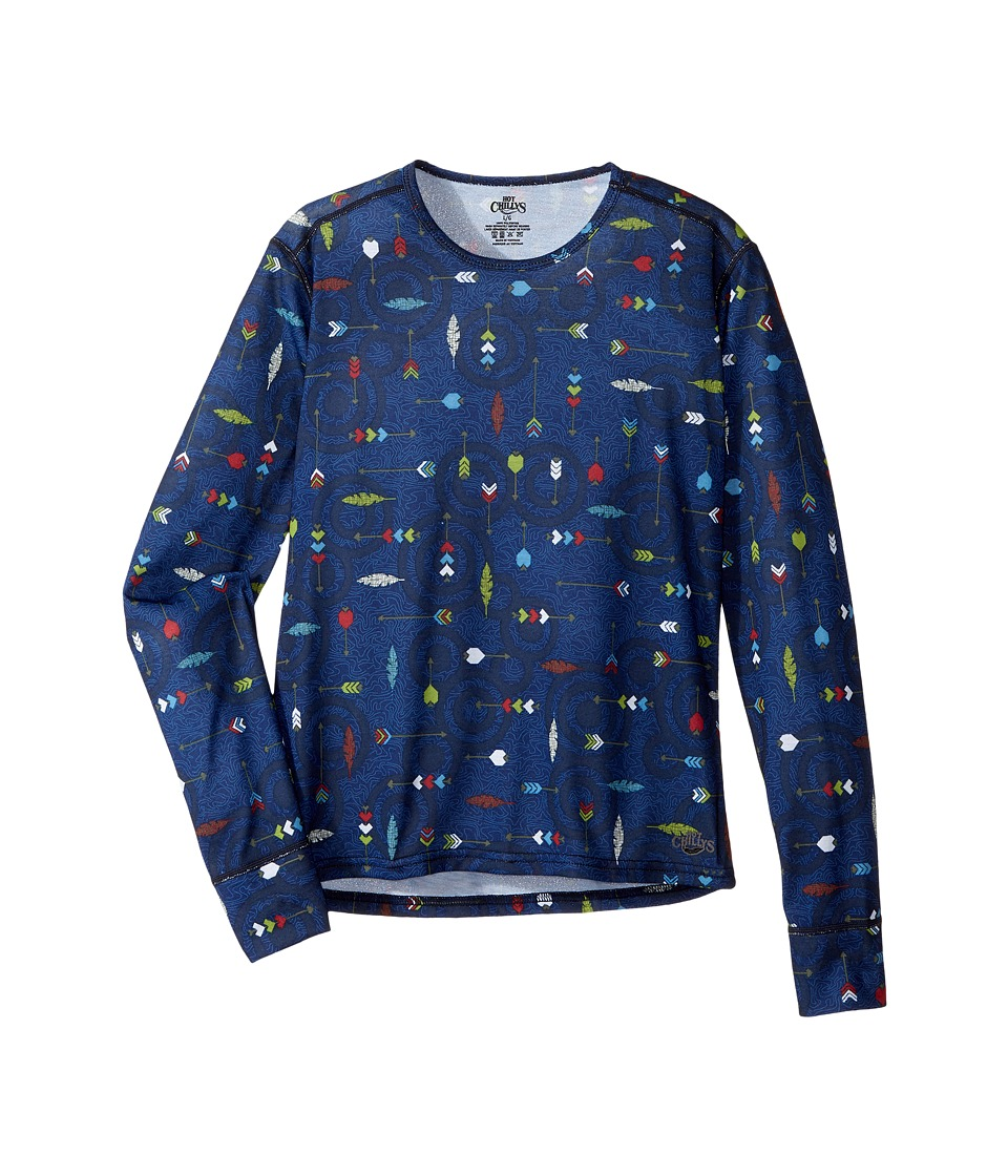 Hot Chillys Kids - Midweight Print Crew (Little Kids/Big Kids) (Flying Arrows) Boys Clothing