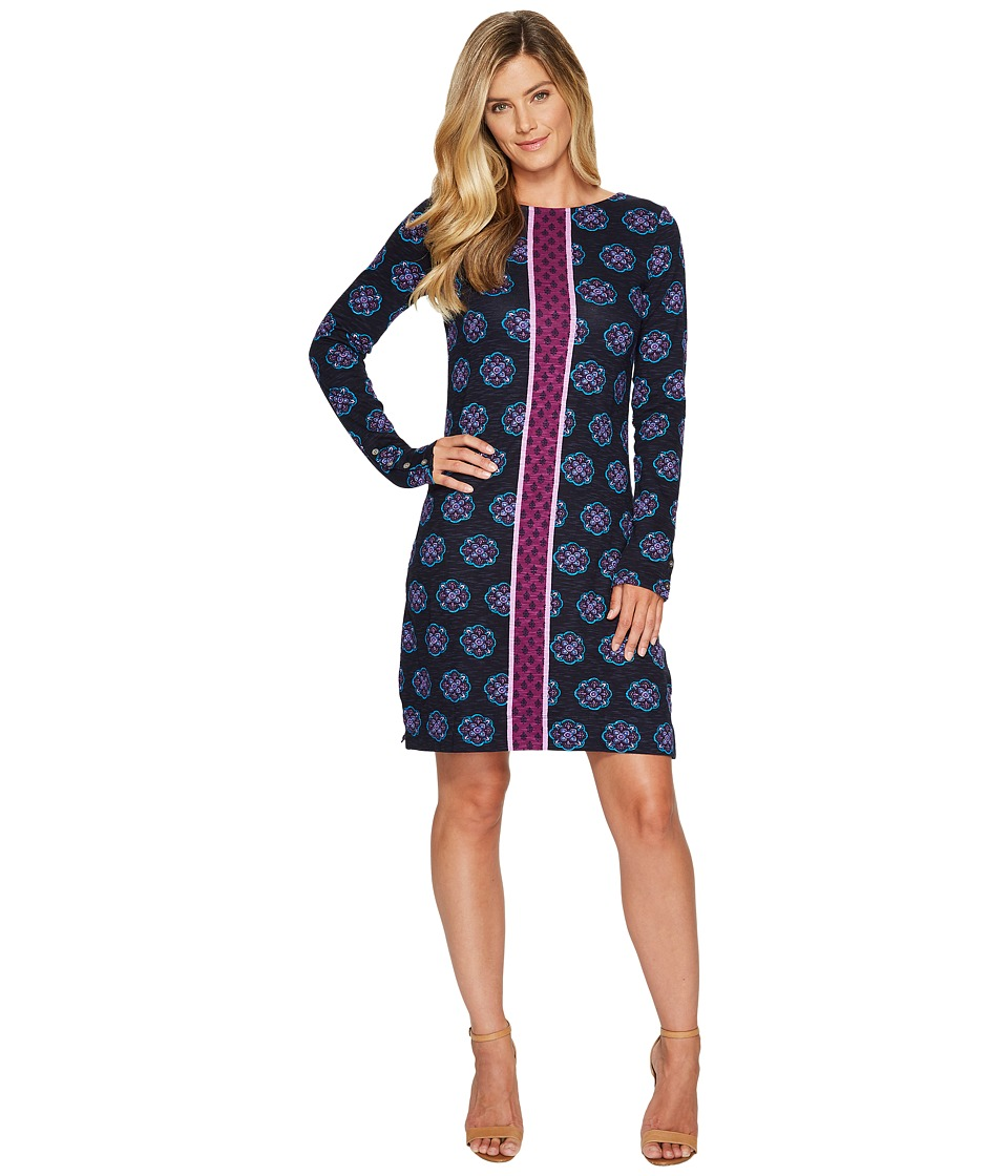 Hatley Boat Neck Dress (Byzantium Floral) Women