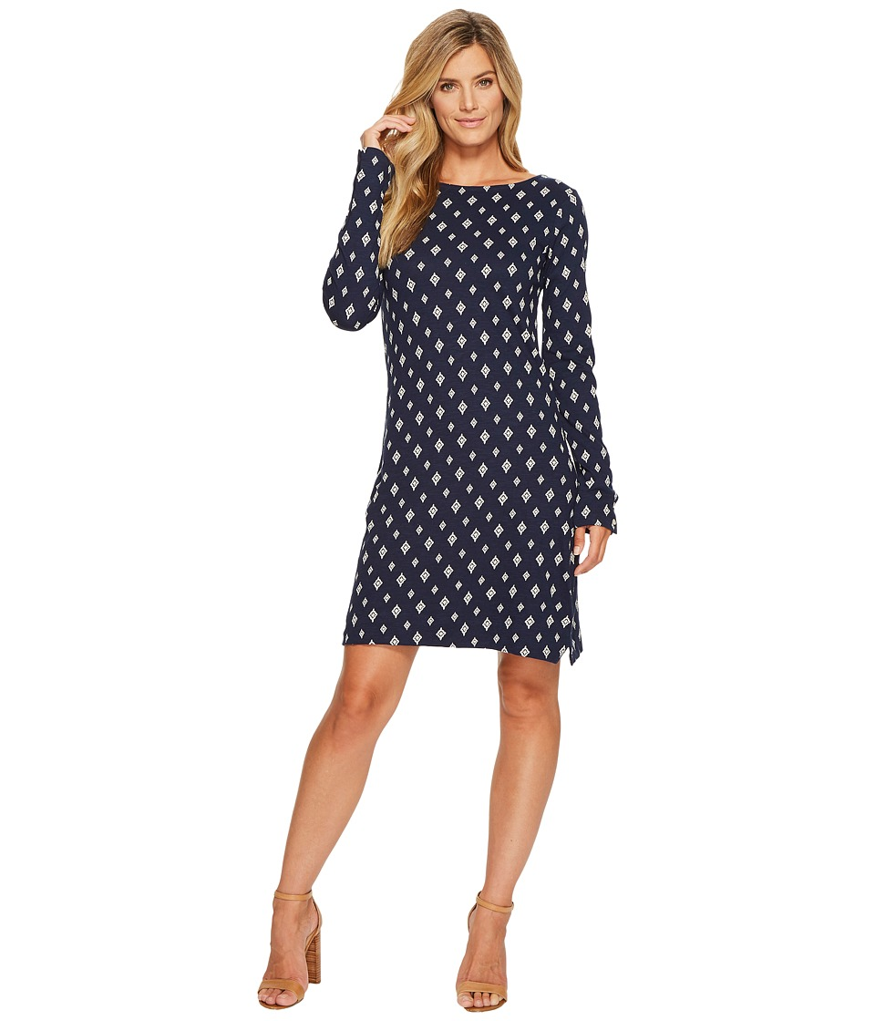 Hatley Boat Neck Dress (Polka Dot Medallion) Women