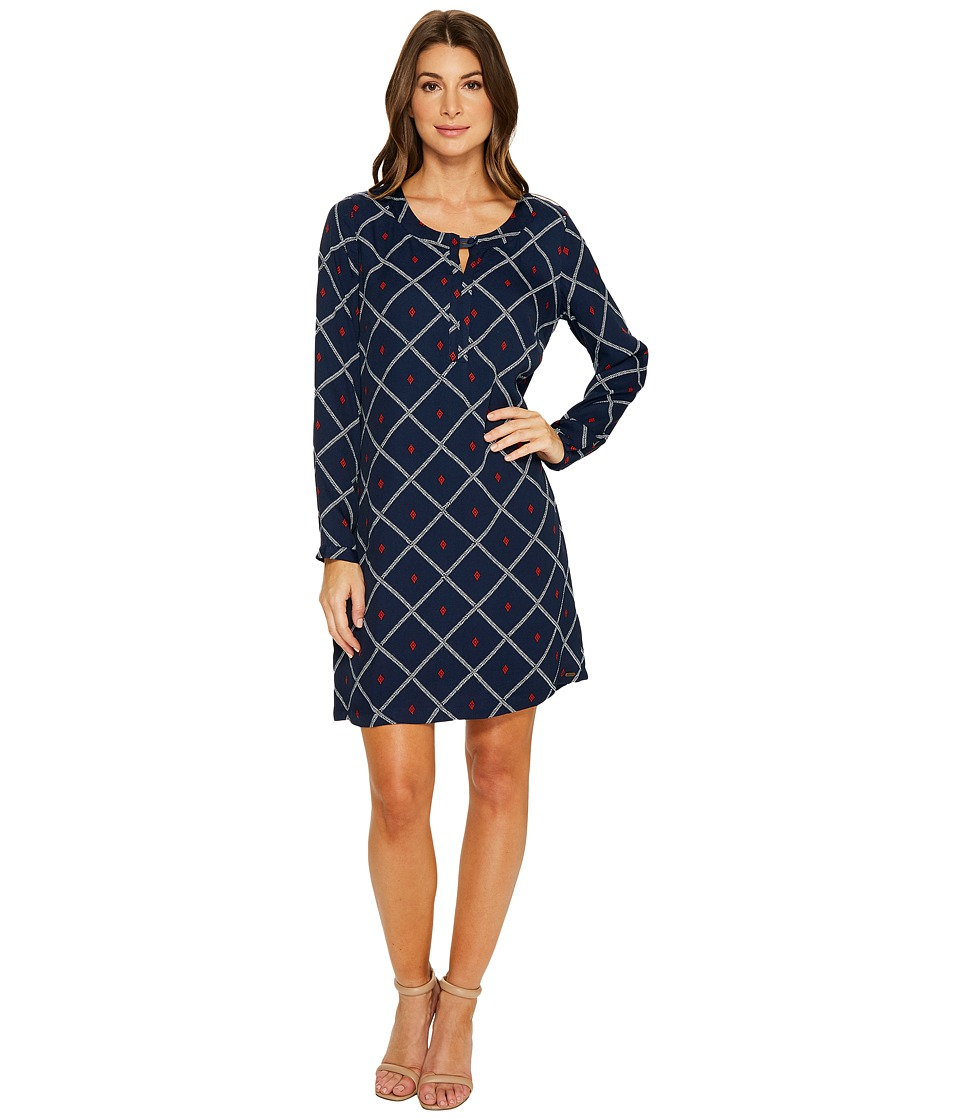 Hatley Shift Dress (Navy Grid) Women