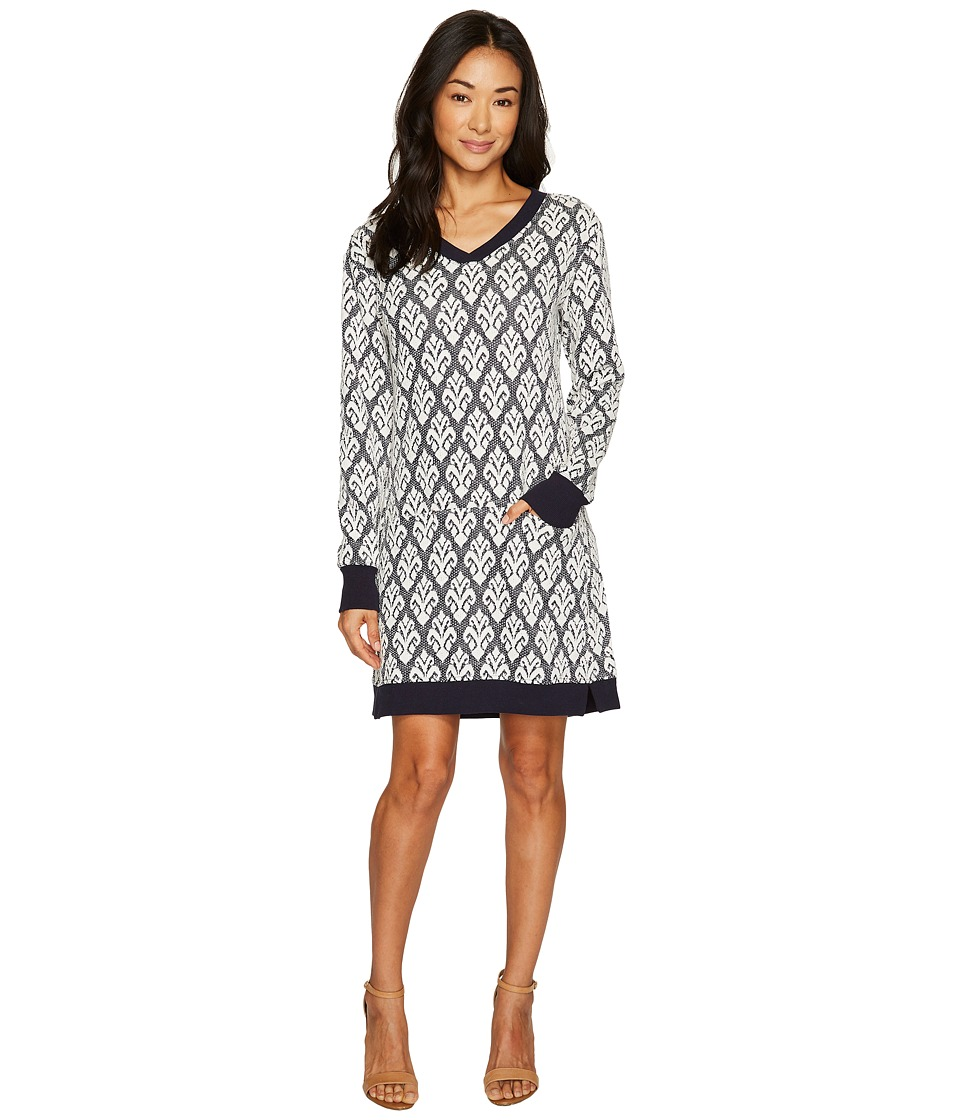 Hatley Jacquard Terry Dress (Navy/Cream) Women