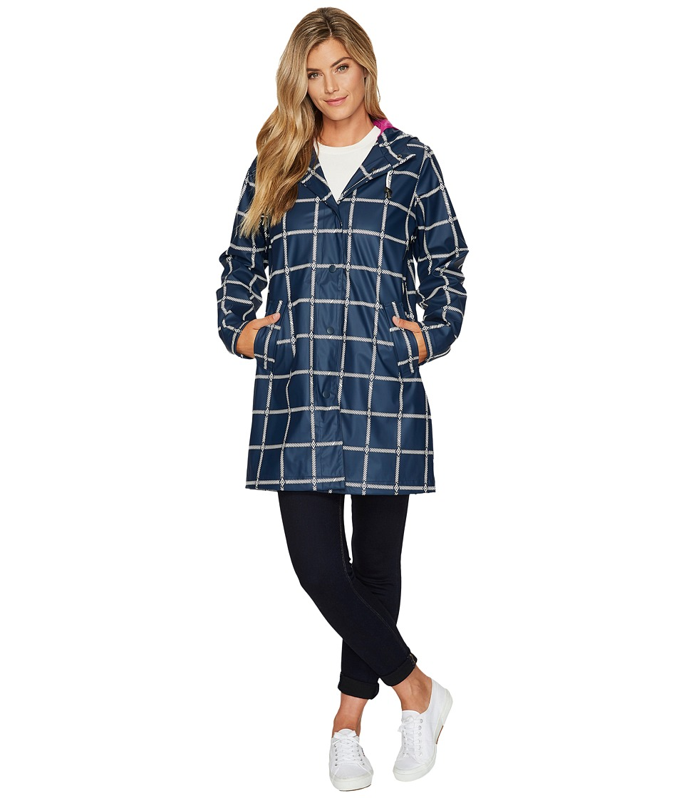 Hatley Classic Raincoat (Navy Grid) Women