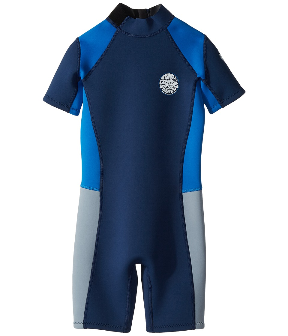 Rip Curl Kids - Aggrolite 2mm Spring (Little Kids/Big Kids) (Navy) Boys Wetsuits One Piece