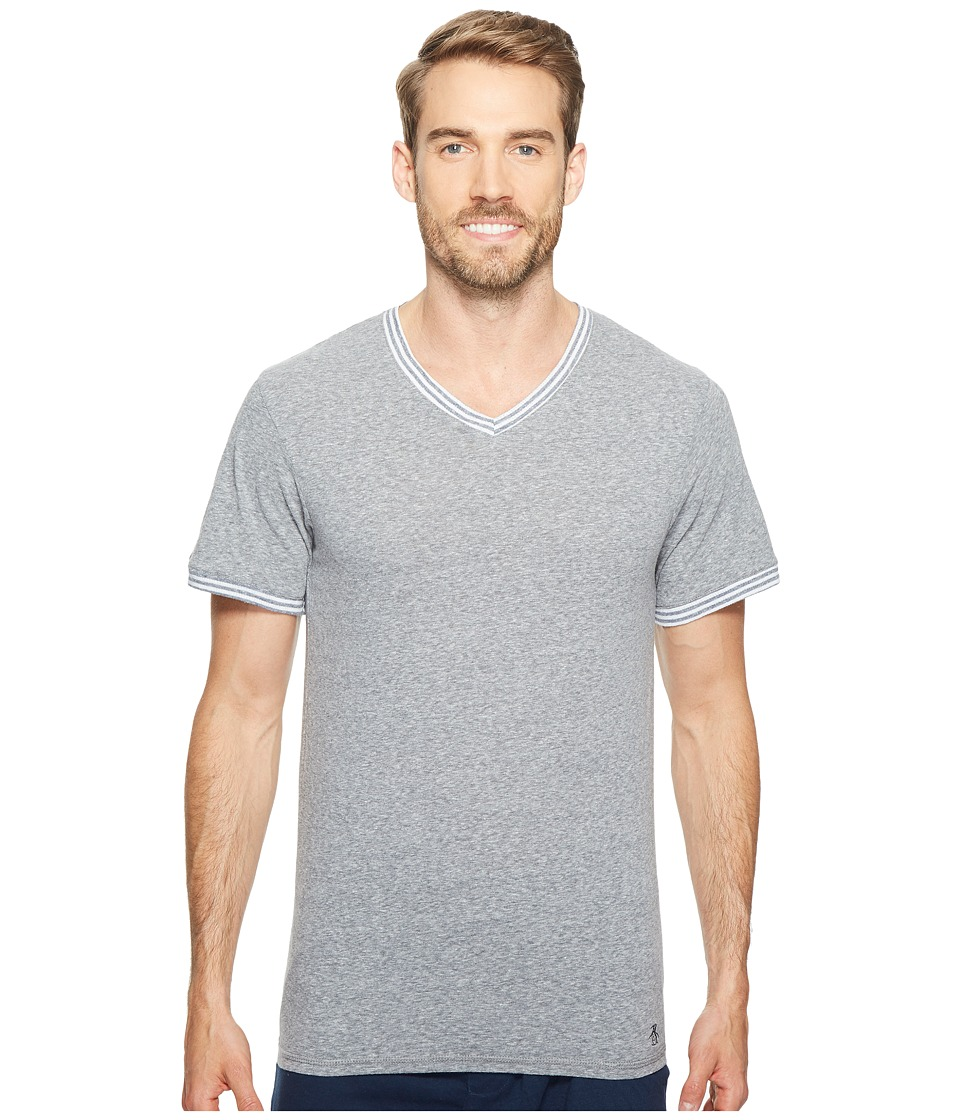 Original Penguin V-Neck Short Sleeve (Dark Sapphire) Men