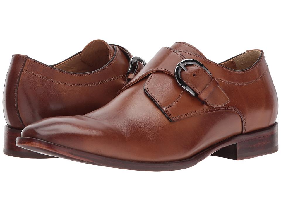 Johnston & Murphy - McClain Monk Strap (Tan Full Grain) Mens Slip-on Dress Shoes