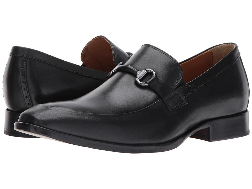 Johnston & Murphy - McClain Bit (Black Full Grain) Mens Slip-on Dress Shoes