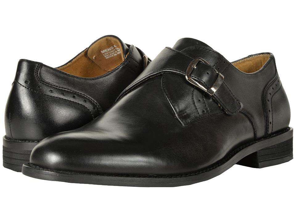 Nunn Bush - Sabre Plain Toe Dress Casual Monk Strap (Black) Mens Plain Toe Shoes