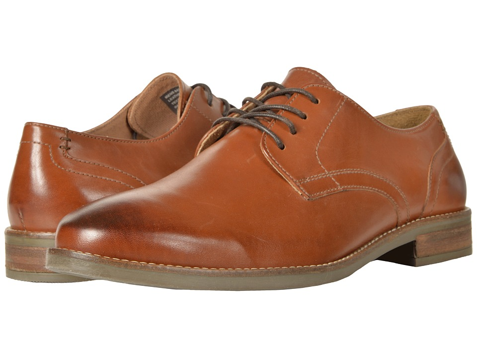 Nunn Bush Clyde Plain Toe Oxford (Cognac) Men