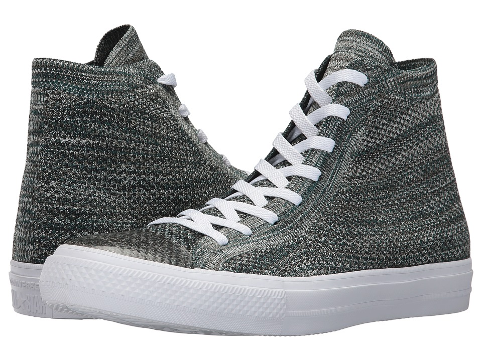 Converse - Chuck Taylor(r) All Star(r) X Nike Flyknit Hi (Dark Atomic Teal/Igloo/White) Shoes