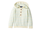 Toobydoo - Cotton Cashmere Light Blue Henley Beach Hoodie (Infant/Toddler)