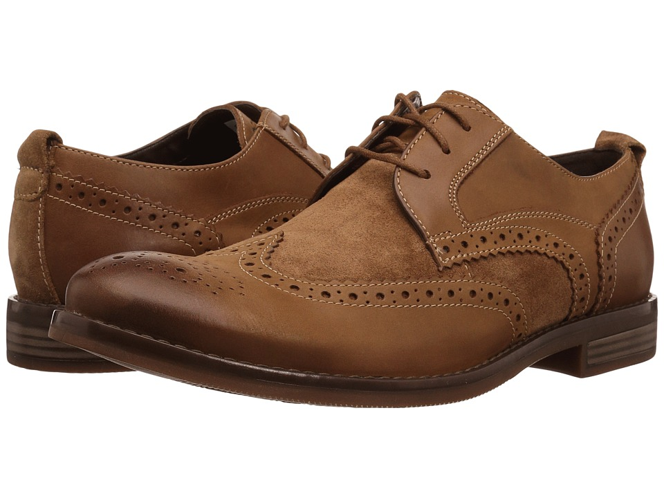 Rockport - Wynstin Wingtip (Tobacco) Mens Dress Flat Shoes