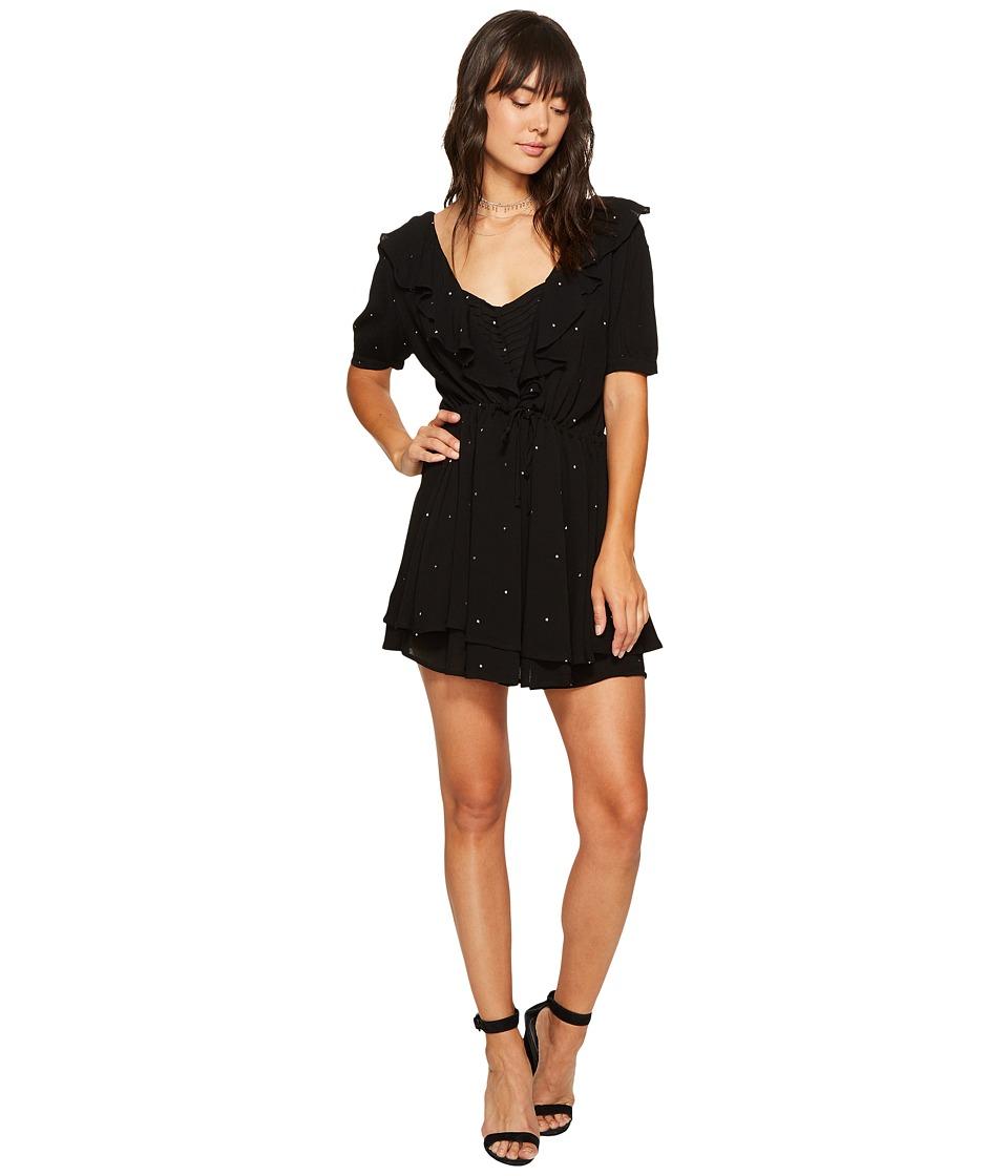 For Love and Lemons Disco Baby Drawstring Dress (Black Star) Women