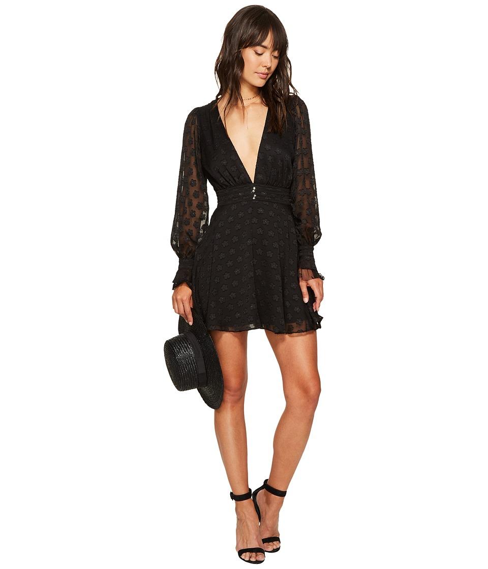 For Love and Lemons Modern Long Sleeve Dress (Black Daisy) Women