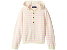 Toobydoo - Cotton Cashmere Light Pink Henley Beach Hoodie (Infant/Toddler)