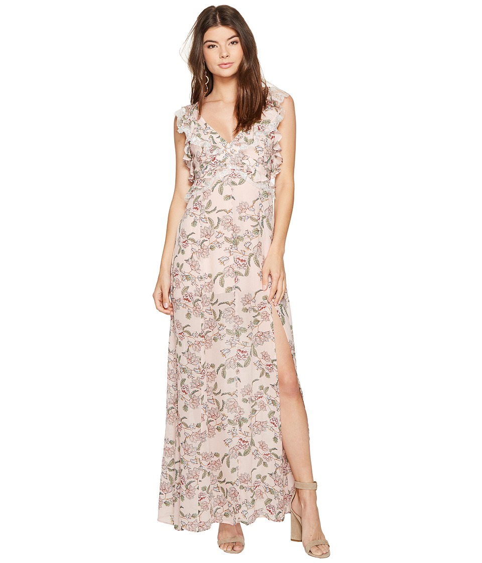 For Love and Lemons Bee Balkm Maxi Dress (Pink Floral) Women