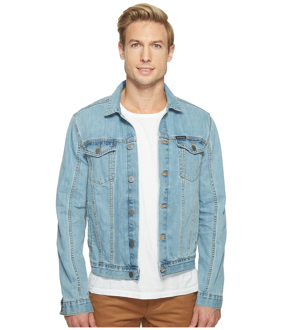 Calvin Klein Jeans - Light Wash Jean Jacket (Light Wash) Mens Coat