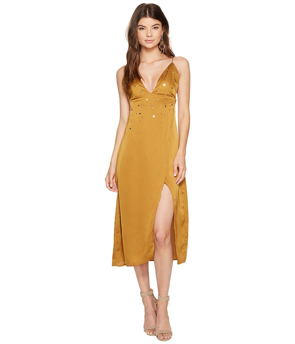 For Love and Lemons Twinkle Maxi Dress (Olive) Women