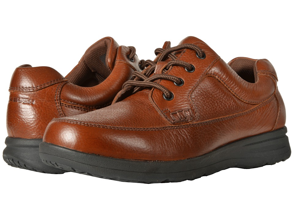Nunn Bush Cam Moc Toe Oxford (Cognac Tumbled Leather) Men