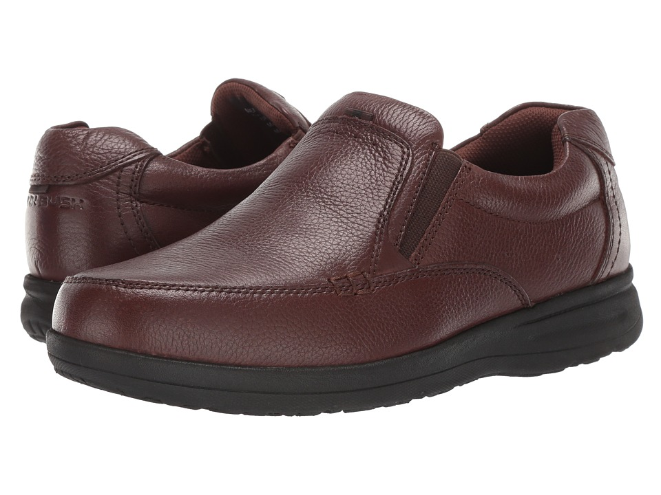 Nunn Bush Cam Moc Toe Slip-On (Brown Tumbled Leather) Men