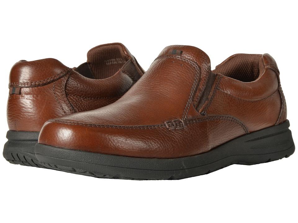Nunn Bush Cam Moc Toe Slip-On (Cognac Tumbled Leather) Men