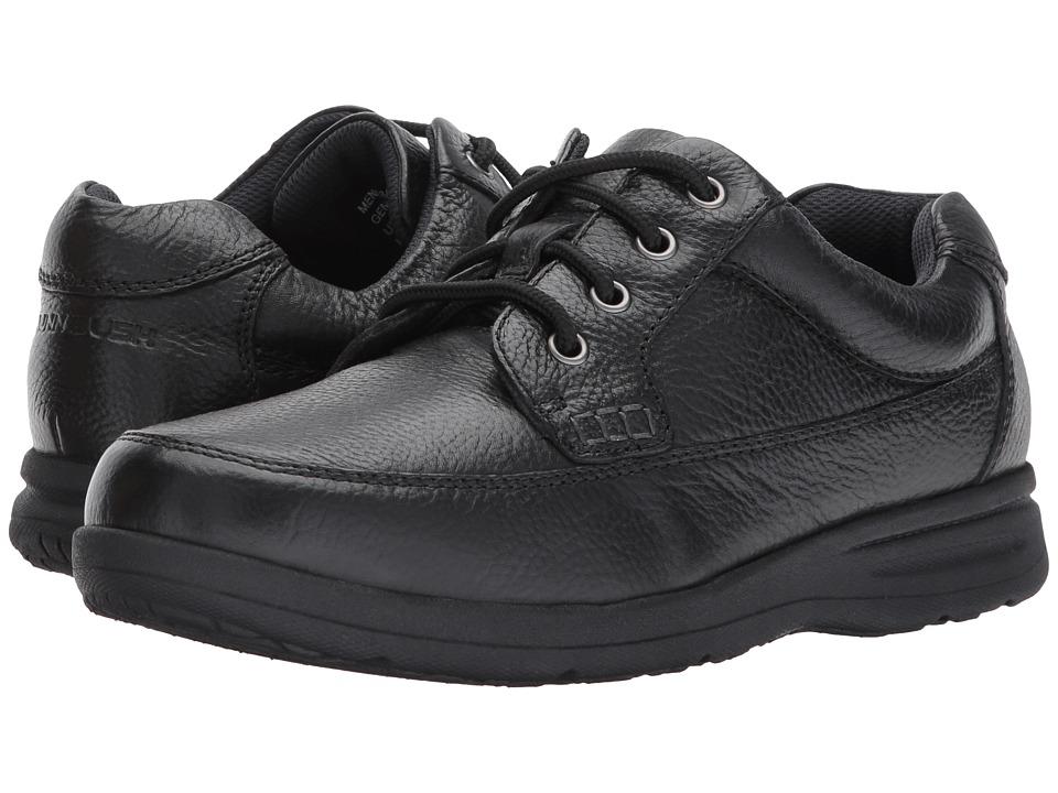 Nunn Bush Cam Moc Toe Oxford (Black Tumbled Leather) Men