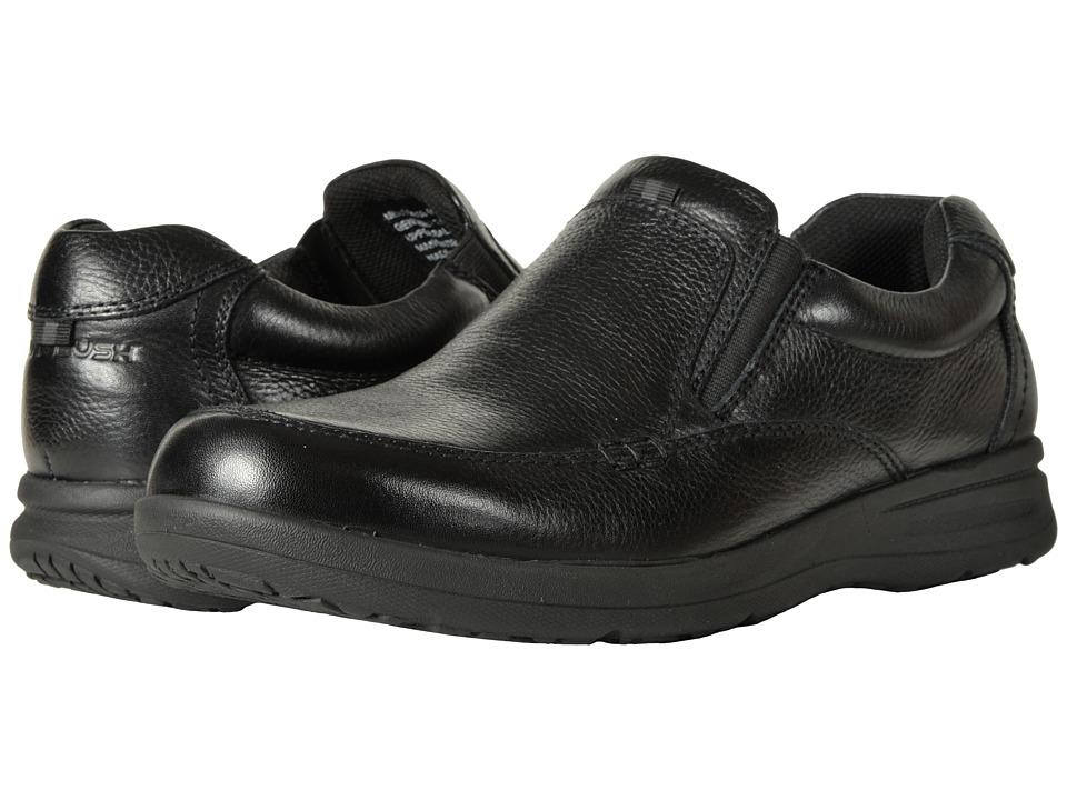 Nunn Bush Cam Moc Toe Slip-On (Black Tumbled Leather) Men