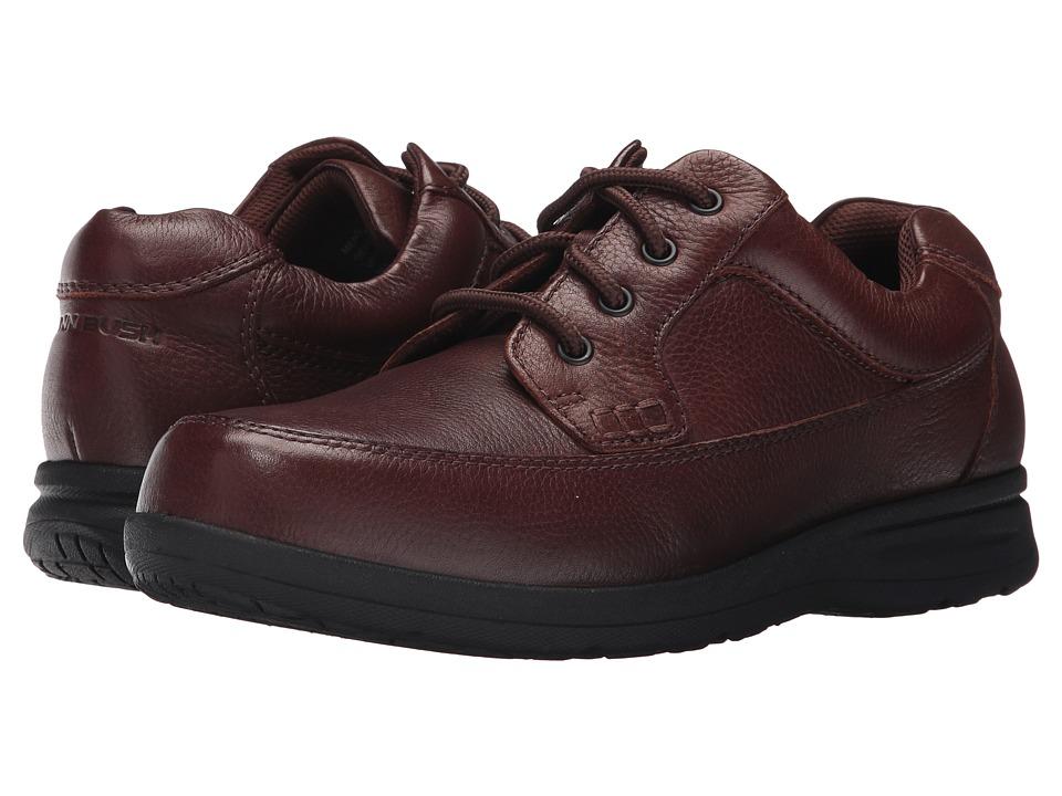 Nunn Bush Cam Moc Toe Oxford (Brown Tumbled Leather) Men