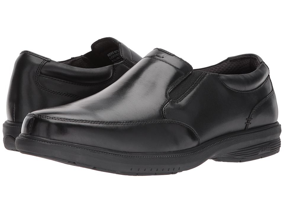 Nunn Bush Myles St. Moc Toe Slip-On (Black) Men