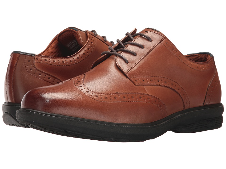 Nunn Bush Maclin St. Wing Tip Oxford (Tan) Men