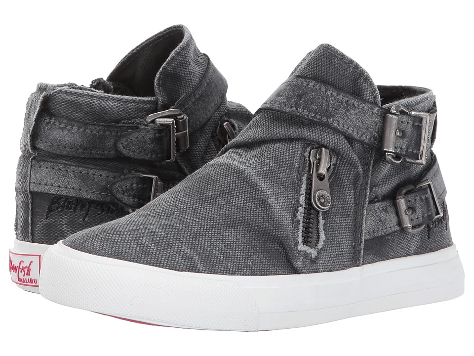 Blowfish Kids - Mondo-K (Little Kid/Big Kid) (Grey Smoked 16oz. Canvas/Dark Grey Cecilia PU) Girls Shoes