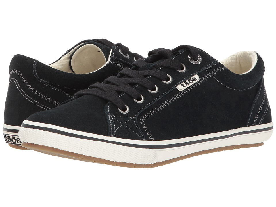 Taos Footwear Retro Star (Black Suede) Women