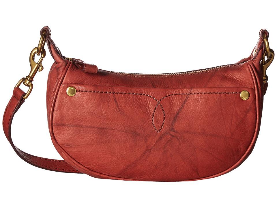 Frye - Campus Rivet Saddle (Burnt Red Dakota) Shoulder Handbags