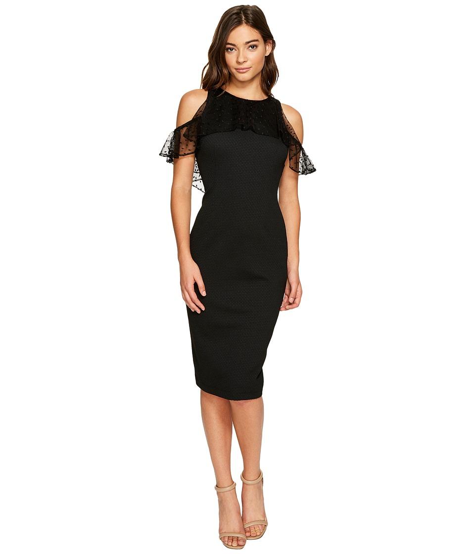 Christin Michaels - Macy Sleeveless Lace Ruffle Dress