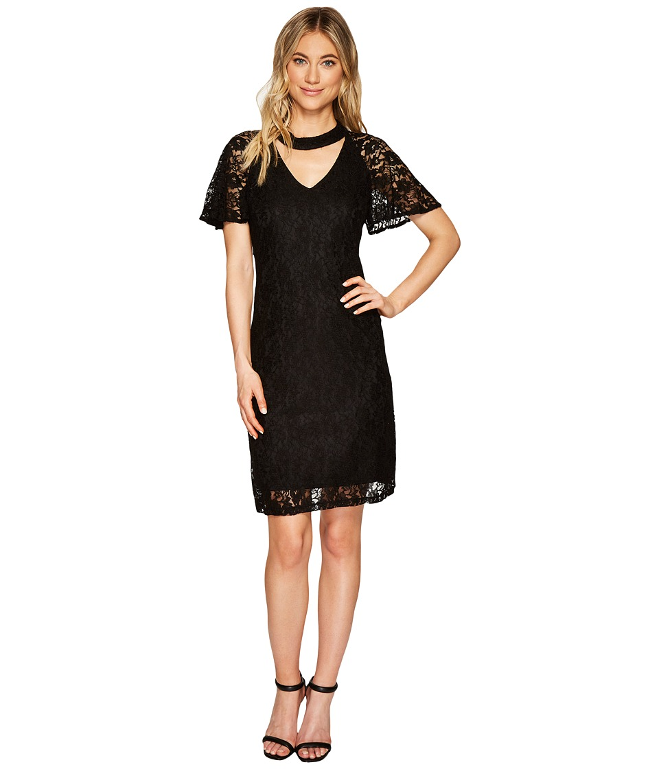 Christin Michaels - Reese Lace Dress with Keyhole