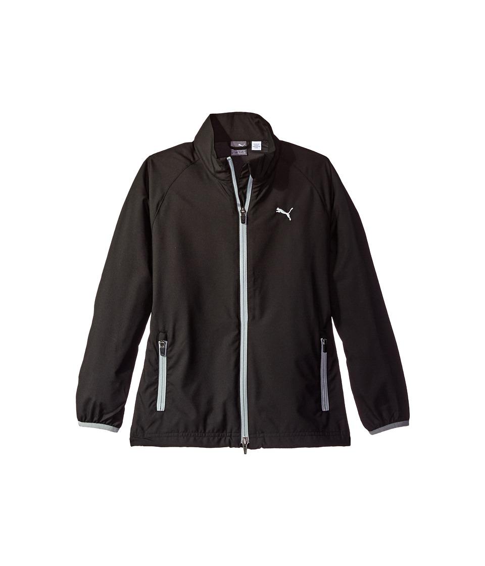 PUMA Golf Kids - Full Zip Wind Jacket JR (Big Kids) (PUMA Black) Boys Coat