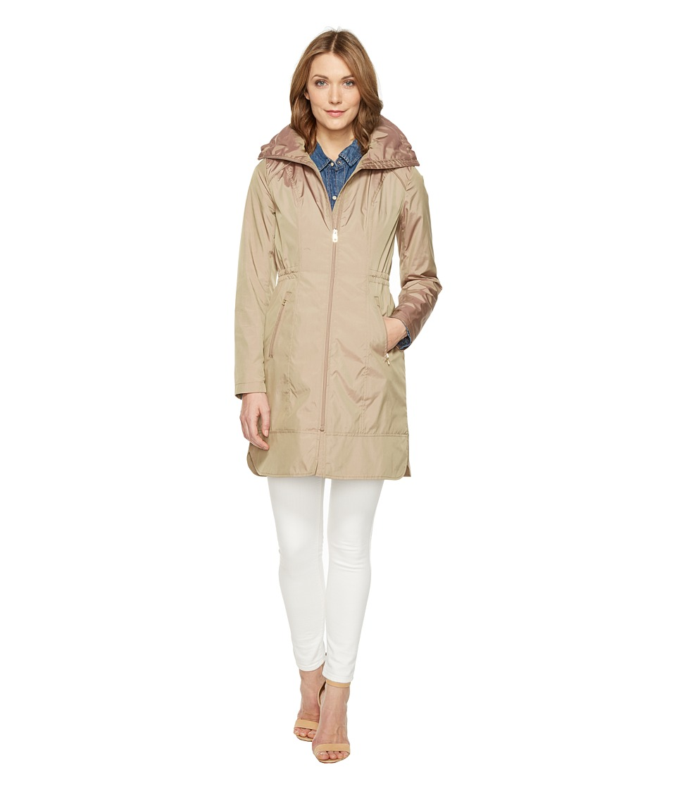 Cole Haan 36 Single Breasted Rain Jacket with Packable Ho...