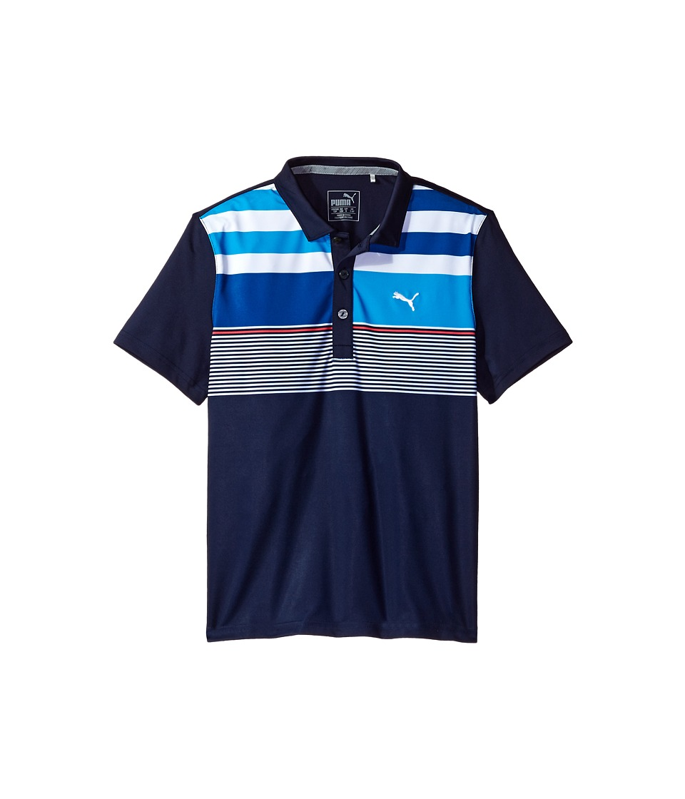 PUMA Golf Kids - Road Map Asymmetrical Polo JR (Big Kids) (Peacoat) Boys Clothing