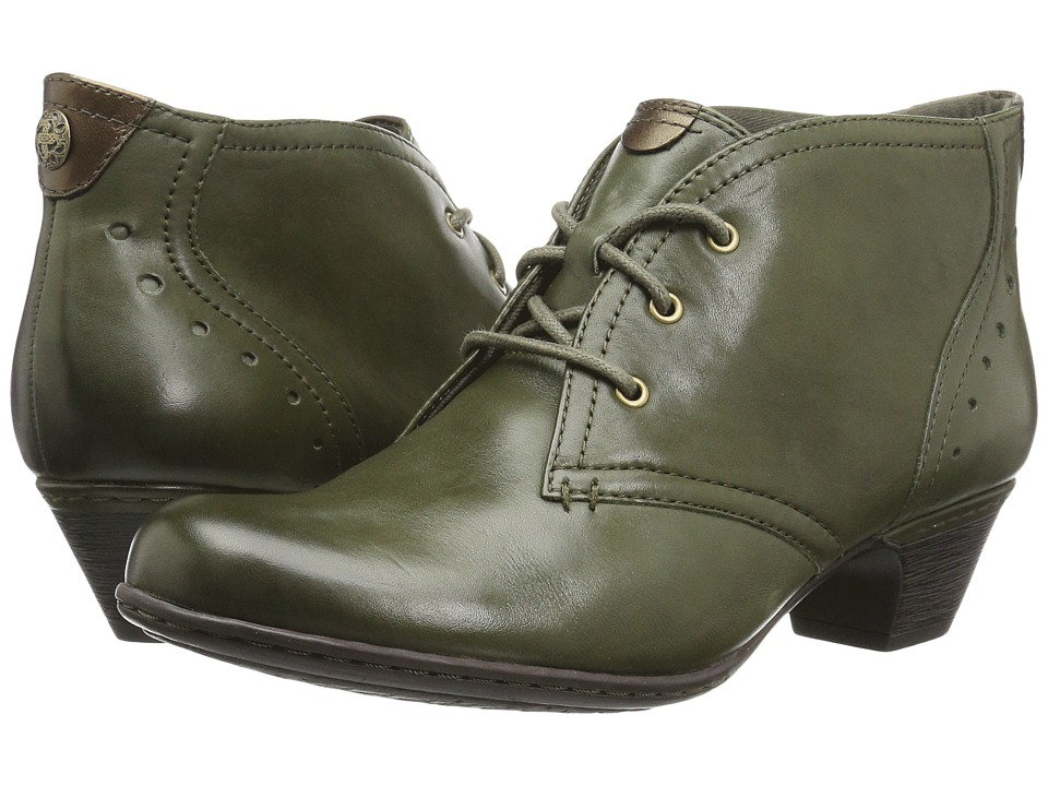 Vintage Style Shoes, Vintage Inspired Shoes Rockport Cobb Hill Collection - Cobb Hill Aria Evergreen Leather Womens Lace-up Boots $139.95 AT vintagedancer.com
