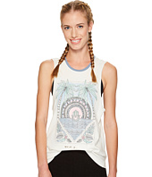 Spiritual Gangster - Hamsa Tropical Palm Rocker Tank Top