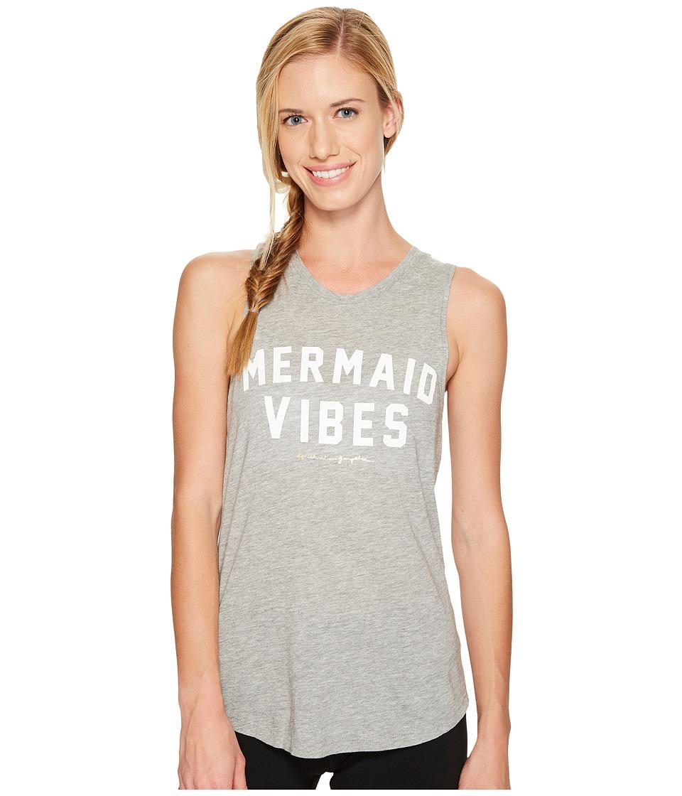 Spiritual Gangster Mermaid Vibes Muscle Tank Top (Heather Grey) Women