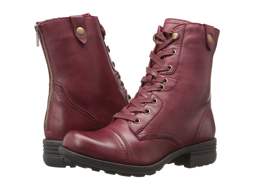 Rockport Cobb Hill Collection - Cobb Hill Bethany (Wine Leather) Womens Lace-up Boots