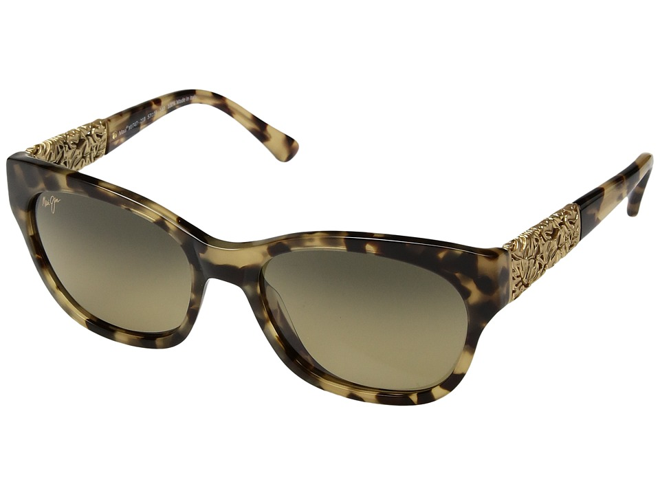 Maui Jim - Monstera Leaf (Honey Havana with Yellow Gold Monstera/HCL Bronze) Fashion Sunglasses