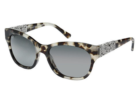 Maui Jim Monstera Leaf - White Tokyo with White Gold Monstera/Neutral Grey