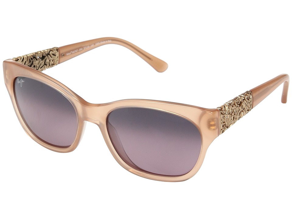 Maui Jim Monstera Leaf (Guava Pink with Rose Gold Monster...