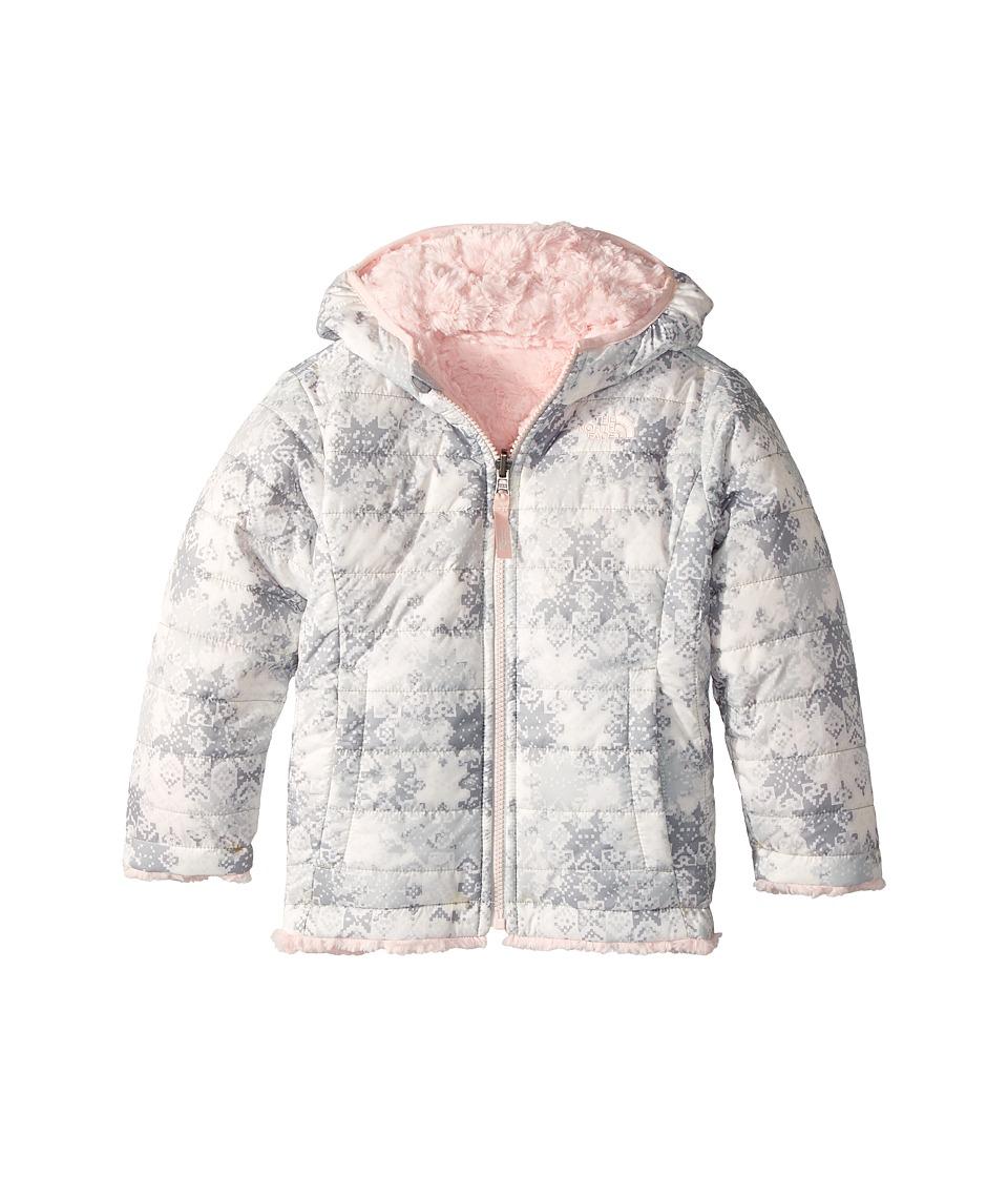The North Face Kids - Reversible Mossbud Swirl Jacket (Toddler) (TNF White Snowflake Fair Isle Print (Prior Season)) Girls Coat